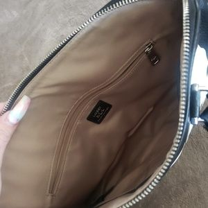 Ralph Lauren black and white flower purse